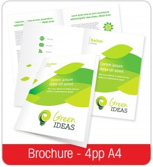 A3 Folded Brochure to (4pp A4)