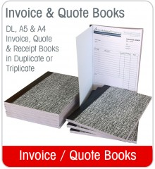 Invoice / Quote Books A4